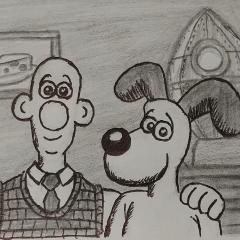 Wallace & Gromit from A Grand Day Out