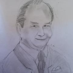 Peter Sallis drawing
