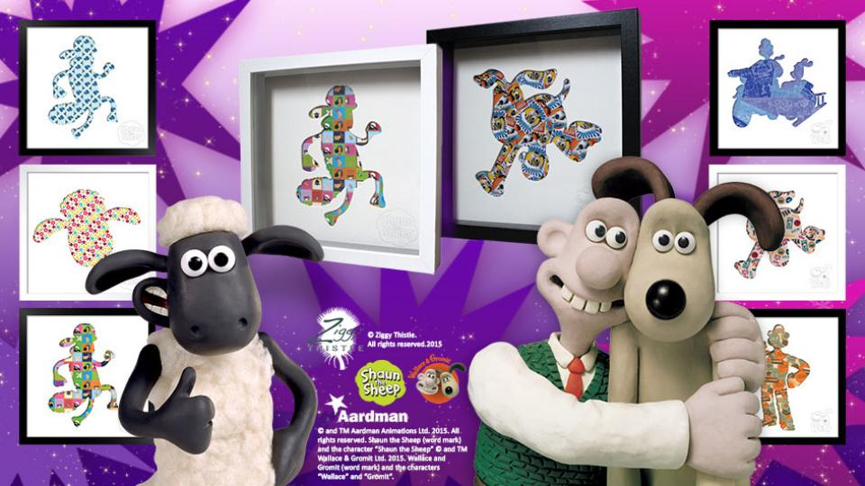 Win A Wallace & Gromit Artwork with Ziggy Thistle!